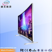 Super enjoy lcd display video advertising player tv curved lg 65 inch pedestal curved tv
