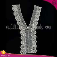 High quality garment new designs lace neck collars for kurtis