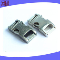 zinc alloy curved buckle, metal side release buckle, metal strap buckle for bag