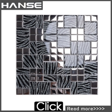 XF051 mirror glass small mosaic wall tile kitchen