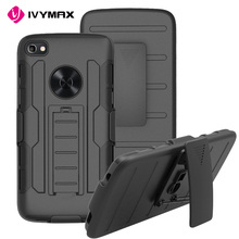 IVYMAX 3 in 1 armor holster kickstand combo protector cover case for Alcatel idol 5 with belt clip phone
