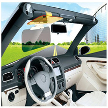 New Car Sun Visor HD Car Anti-Glare Dazzling Goggle Day Night Vision Driving Mirror UV Fold Flip Down HD Clear View Visor