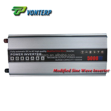 Fully Power Modified Sine Wave Solar Power converter 5KW DC/AC Off-grid Single Phase Modified Sine Wave Solar Power Inverter