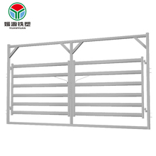 Factory Supply cattle rail double gate metal livestock farm fence horse panel in frame