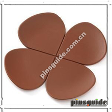 Advertising Custom Design Soft PVC Chocolate Flower Cup Mat With Fast Leadtime