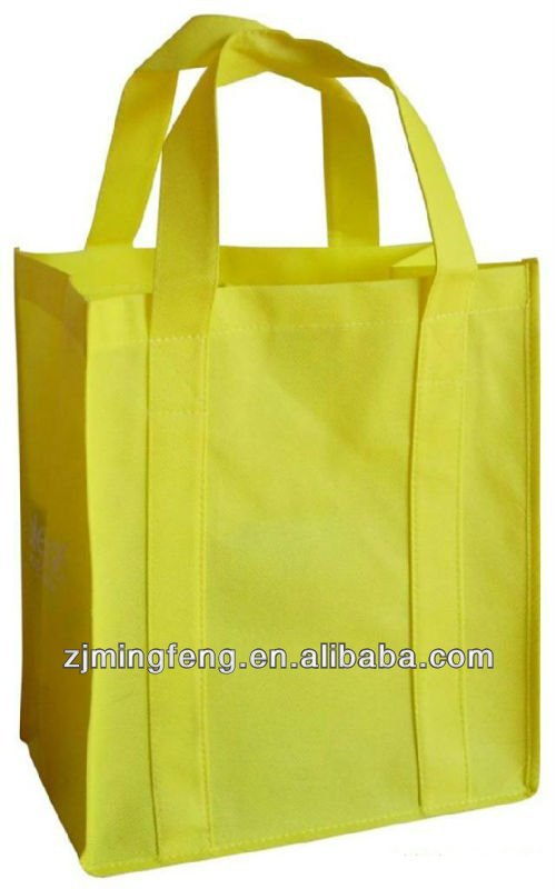high quality eco-friendly yellow non woven tote bag