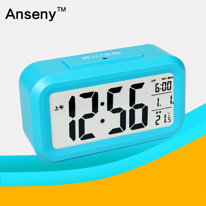 LCD digital multi alarm clock talking table clock with calendar