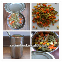 Cannd Food Canned Mixed Vegetable in Brine Metal Tins with Canned Baby Food