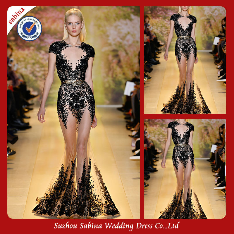 TED0027 Fancy see through zuhair murad dresses for sale