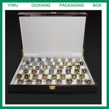 piano cherry lacquer finish luxury USA basketball championship ring collection box