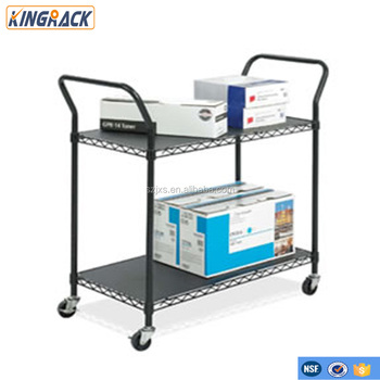 wire shelving carts with Silence Wheels
