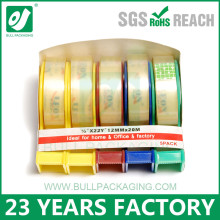 Fashion Design Adhesive Bopp Stationery Tape For Office Use