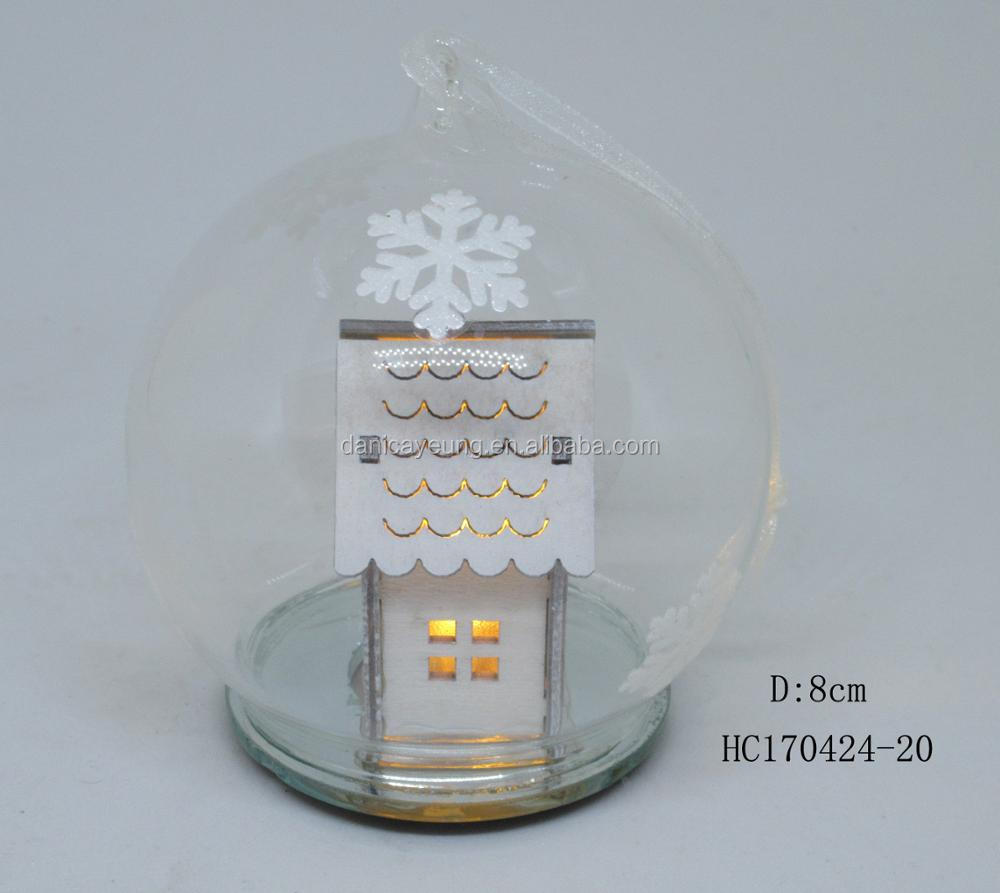 White glass led tree with moon, as wedding or home lighting decor