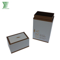 luxury gold foil custom packing makeup boxes for eye brush with 4c printing color