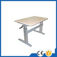 Design economy l shape height manual adjustable table