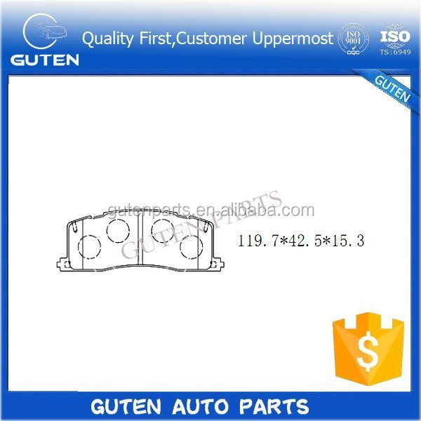 ISO9001 VDA6.1 QS9000 ISO14001 ISO/TS 16949 Certification GDB1138 044 Brake Pads Type supply customizable quality auto brake pad