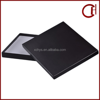 customized matte black top and bottom base see through shirt retail box and shirt retail packaging