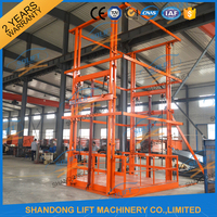 Hydraulic scissor electric steel guide rail lift elevators with CE