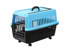 Dog travel durable plastic pet carrier cage