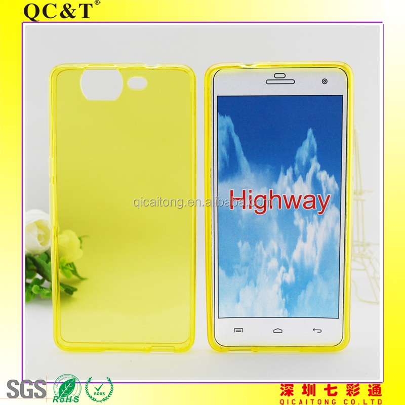 Transparent Clear cell phone tpu case for Wiko highway
