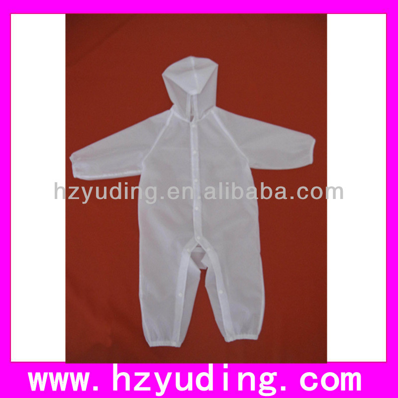 Transparent EVA children raincoat for baby