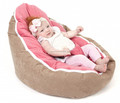 CAMEL / PINK seat Baby bean bag with harness, New lovely baby seat without fill