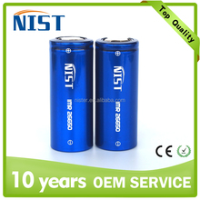 newest NIST IMR 26650 5200mAh 3.7V li-ion rechargeable battery for e cigaratte