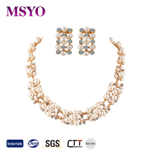 MSYO brand pearl bridal jewelry set new design indian jewelry set
