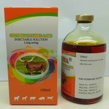 Oxytetracycline Injection 20%-100ml for cattle,goats and sheep