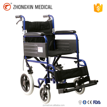12 inch solid wheel wheelchair with fixed armrest