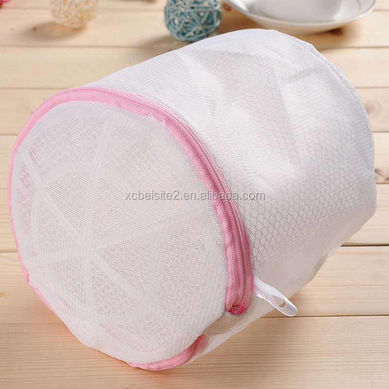 Hot sale portable travel bra mesh travel printed Foldable Lingerie washing bag