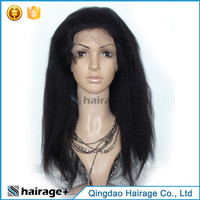 Wholesale Price Kinky Straight Human Hair Full Lace Wig