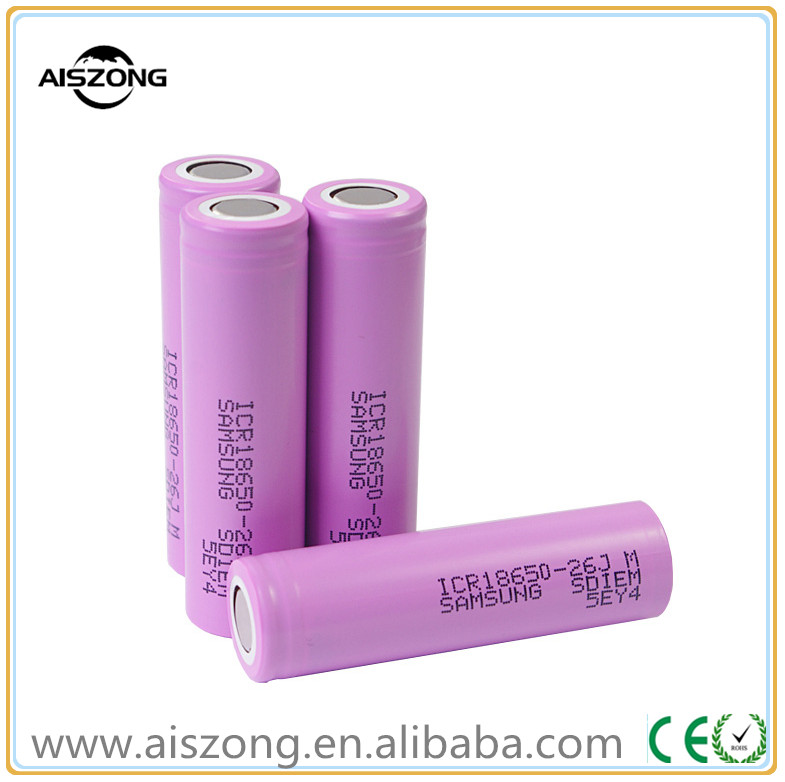 Hot Samsung 18650 26JM li ion rechargeable batteries 3.7V 2600mah for electric bike, electric car ups power tools 18650 battery