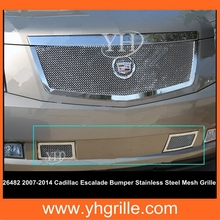 auto parts FRONT GRILLE 2007-2014 Cadillac Escalade Not Fit ESV Platinum And Hybrid Models Without Tow hook Tow Hook Wire Mesh G