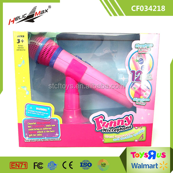 Kids Toy Indoor Music Instrument China Microphone with Holder & Amplify