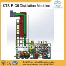 Continuous Black Oil to Base Oil Refinery with Catalyst