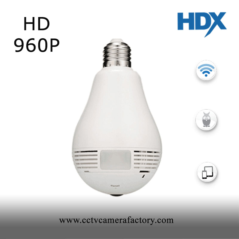 promotion price 360 degree Panoramic 1080P IR Camera Light Bulb Wifi Fisheye CCTV Security Camera