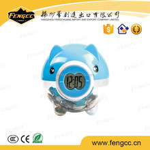 Coins Collected Ceramic Piggy Bank Counting Money with a Clock
