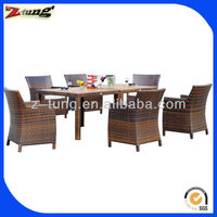 ZT-1019CT rattan 6 seater dining set for outdoor