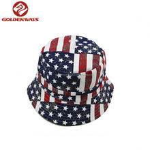 Hot selling factory popular unisex custom american print bucket hat