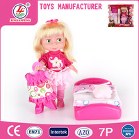 12 Inch Cute Plastic Little Girl Doll Baby Dolls Toys Wholesale With Bedroom