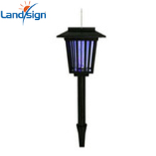 Solar Light Garden Yard LED UV Mosquito Bug Killer Lawn Lamp Outdoor Black
