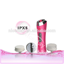 electric rotary facial exfoliator brush facial cleaning and massager machine