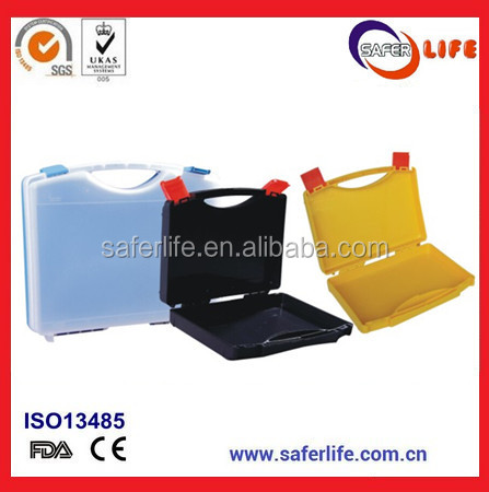 wholesale PP plastic folded storage First Aid box with handle