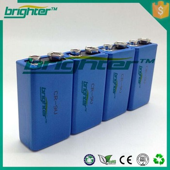 super power 9v lithium 6f22 rechargeable battery for electric generator