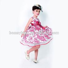 2018 fashion 100% cotton pink girls frock designs