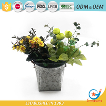 Metal Flower Pot Planter Garden Bucket with Rope handle
