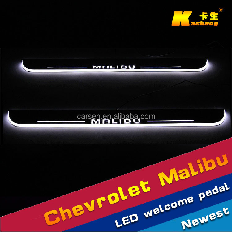 LED light stainless Auto Accessories /car welcome pedal sill plate/ scuff plate/LED Door sill for Chevrolet Malibu 2011-2015