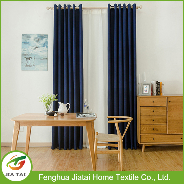 2017 fashion indian style luxury blackout curtain for meeting room