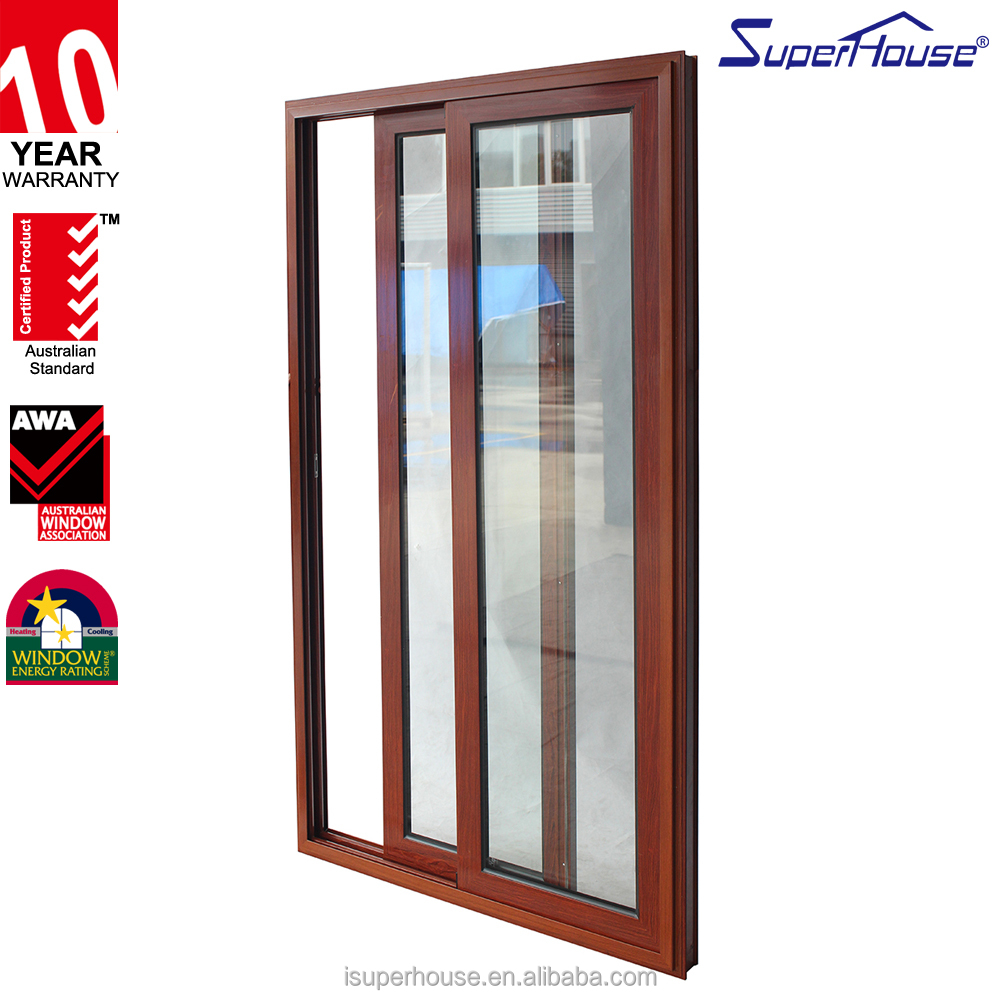 China supplier high quality balcony sliding glass door with mosquito net fire rated doors